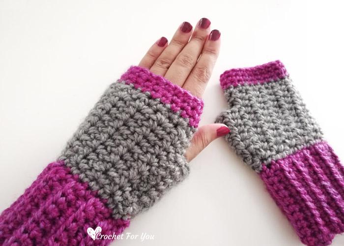 Crochet Spider Stitch Fingerless Gloves