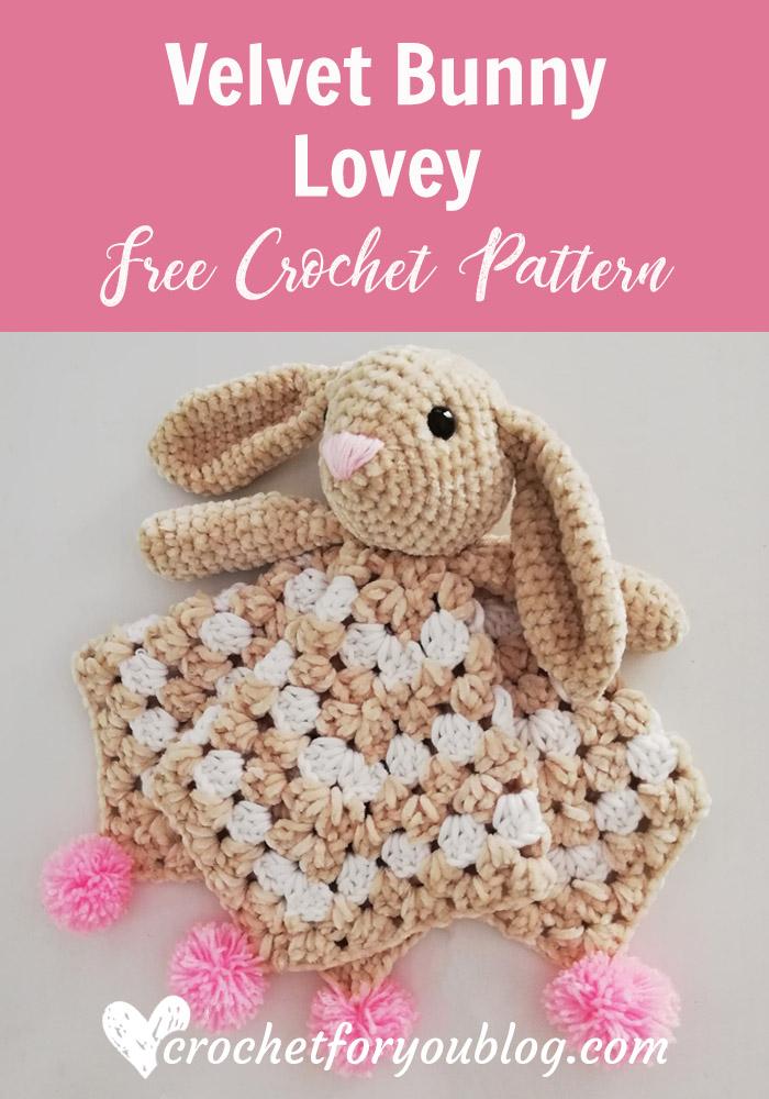 Velvet Bunny Lovey Free Crochet Pattern