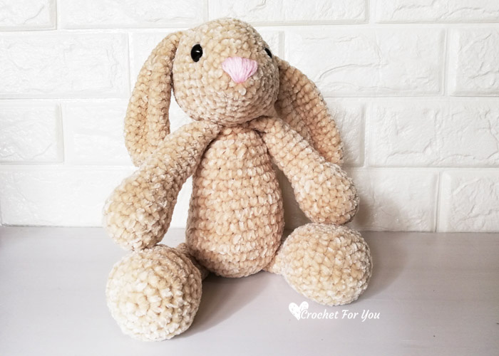Classic Amigurumi Bunny Crochet Pattern - Once Upon a Cheerio | 500x700