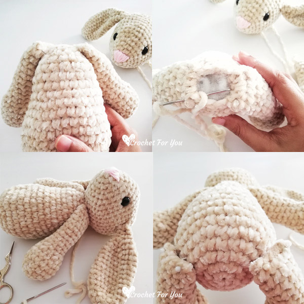 Crochet Big Flappy Ear Bunny Amigurumi Free Pattern | 600x600