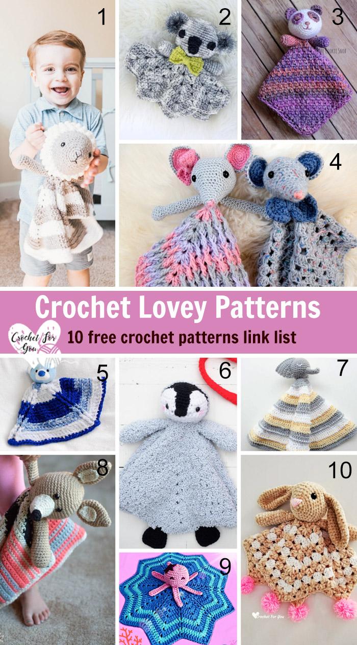 Crochet Lovey Patterns - 10 free crochet pattern link list