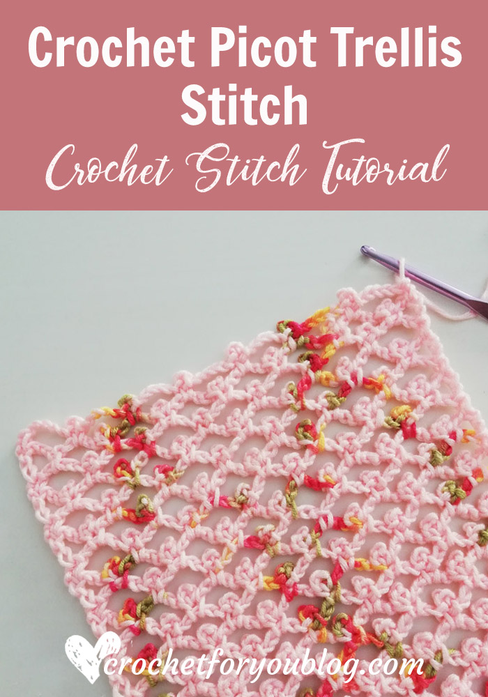 How to Crochet Picot Trellis Stitch