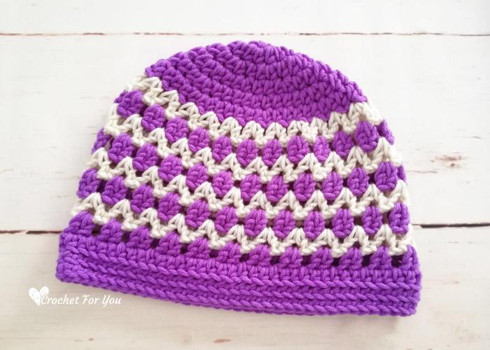 Spring & Summer Lace Beanie Free Crochet Pattern