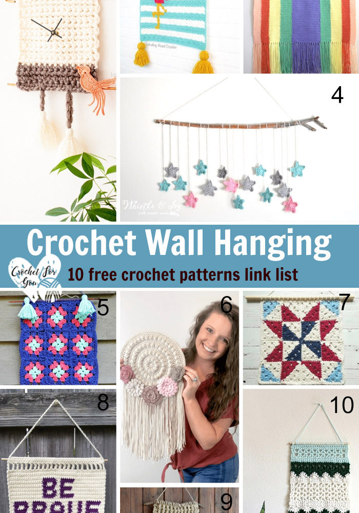 Crochet Wall Hanging - 10 Free Crochet Pattern Link List