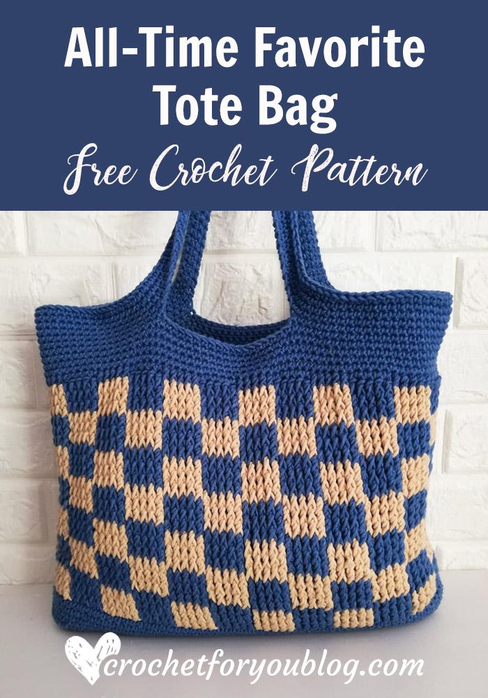 All-Time Favorite Tote Bag Free Crochet Pattern