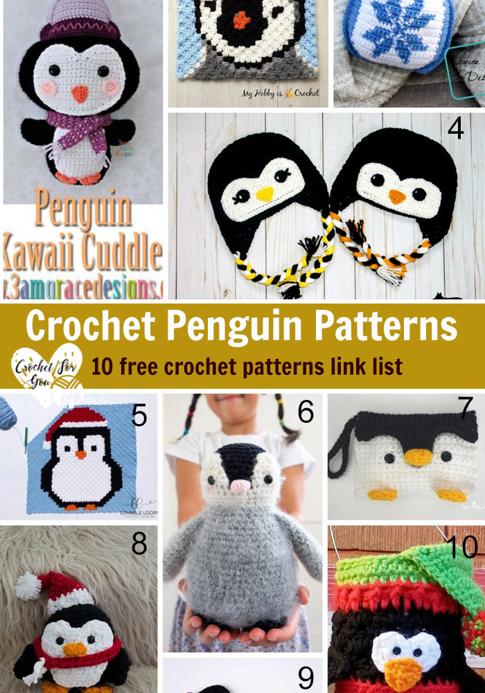 Crochet Penguin Patterns 10 free crochet pattern link list