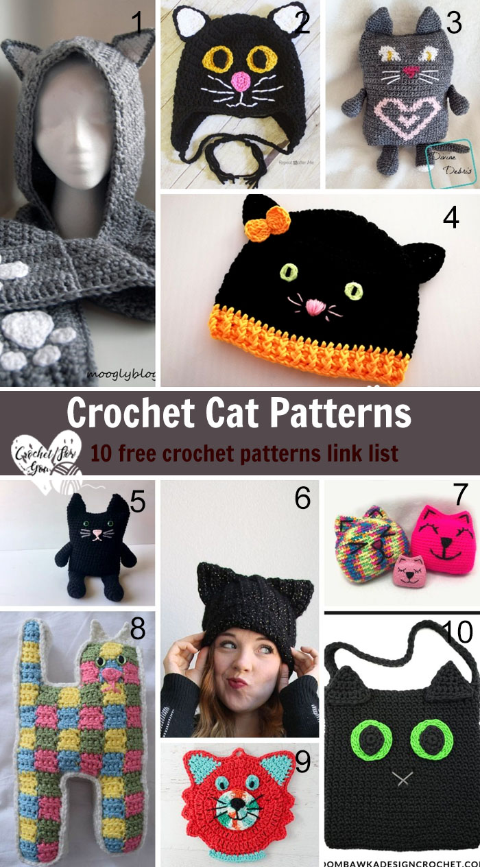 Crochet Cat Patterns - 10 free crochet pattern link list