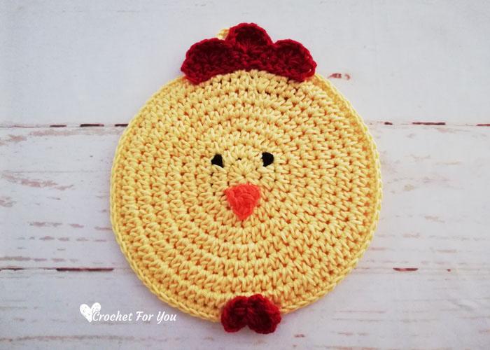 Crochet Chicken Potholder Free Pattern