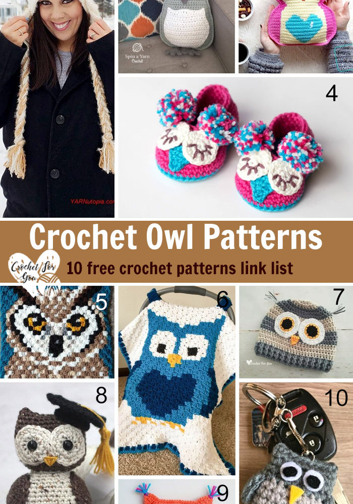 Crochet Owl Patterns – 10 free crochet patterns link list