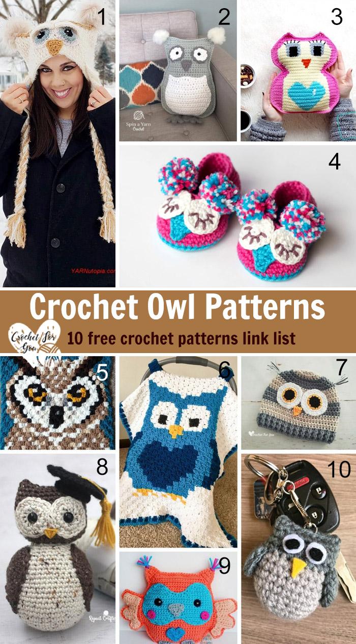 Crochet Owl Patterns – 10 free crochet patterns link list