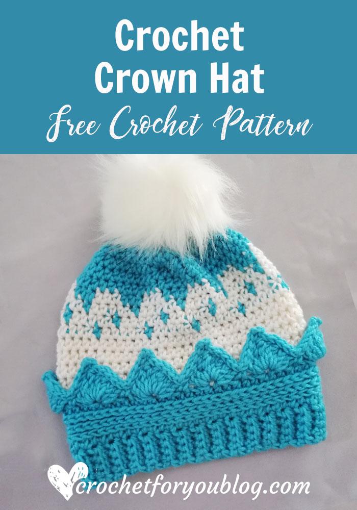 Crochet Crown Hat Free Pattern