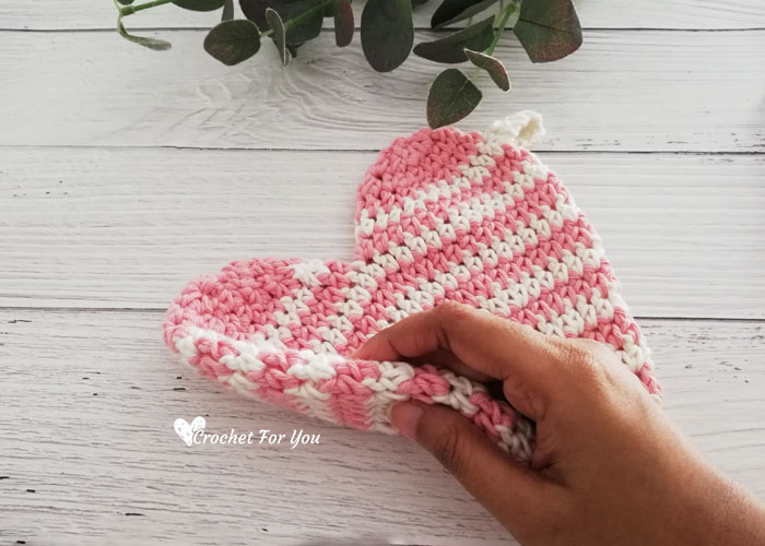 Crochet Heart Potholder Free Pattern
