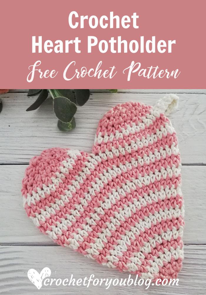 Crochet Heart Potholder Free Pattern