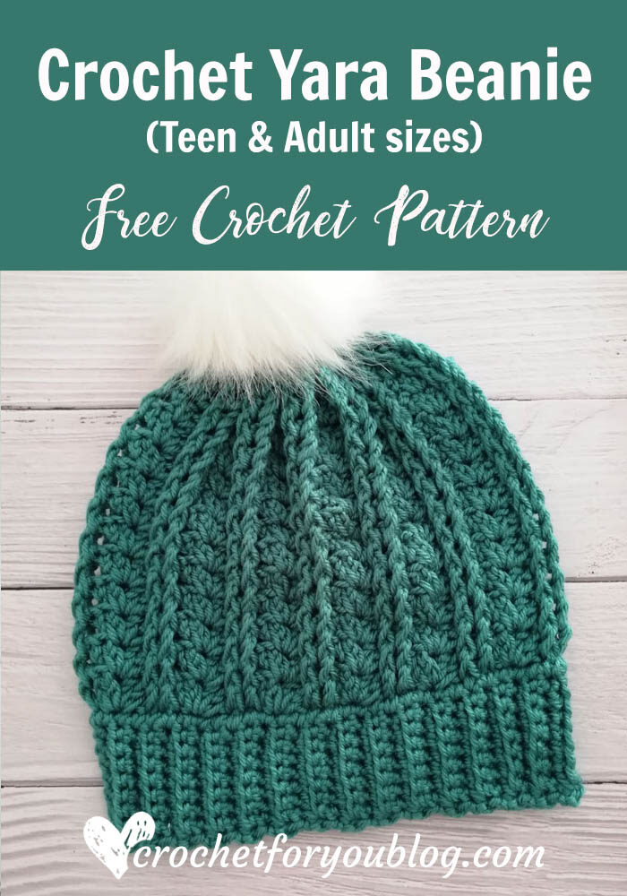 Crochet Yara Beanie - Teen & Adult sizes