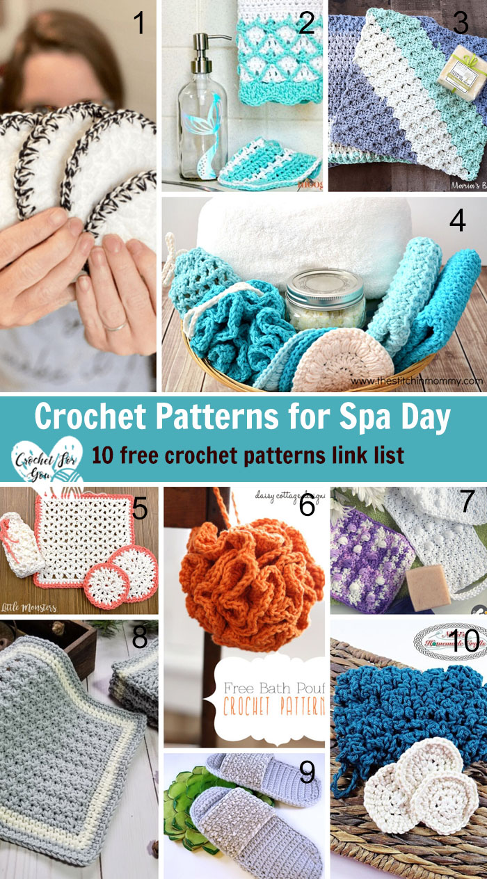 Crochet Patterns for Spa Day