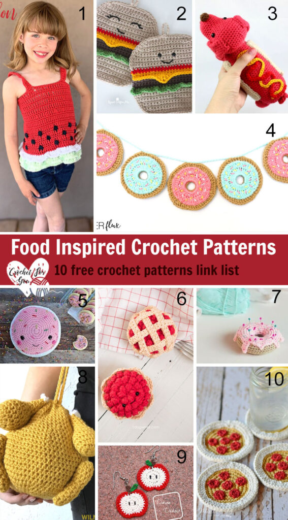 Food Inspired Crochet Patterns