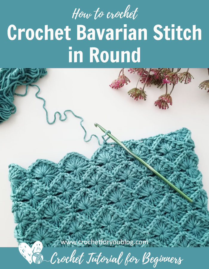 How to Crochet Bavarian Stitch in Round