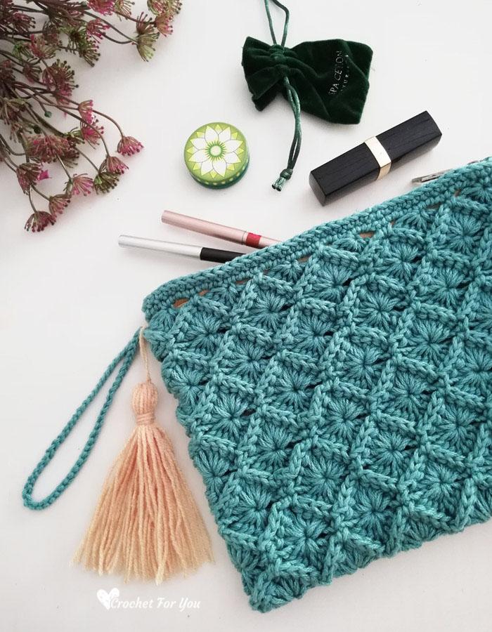 Crochet Bavarian Stitch Pouch