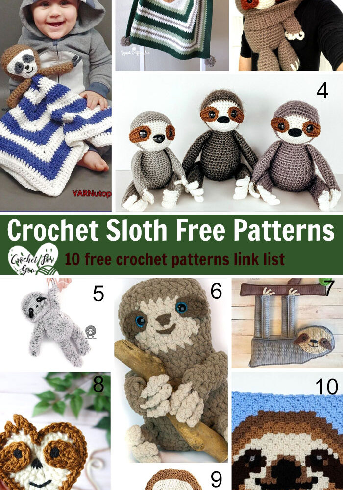Crochet Sloth Free Patterns