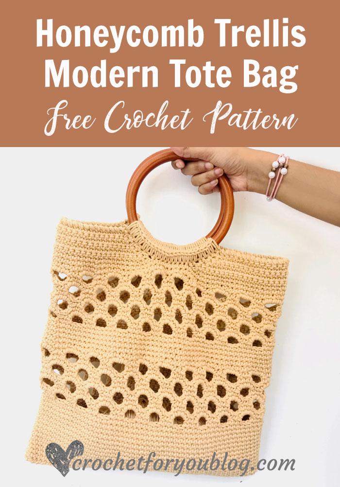 Honeycomb Trellis Modern Tote Bag