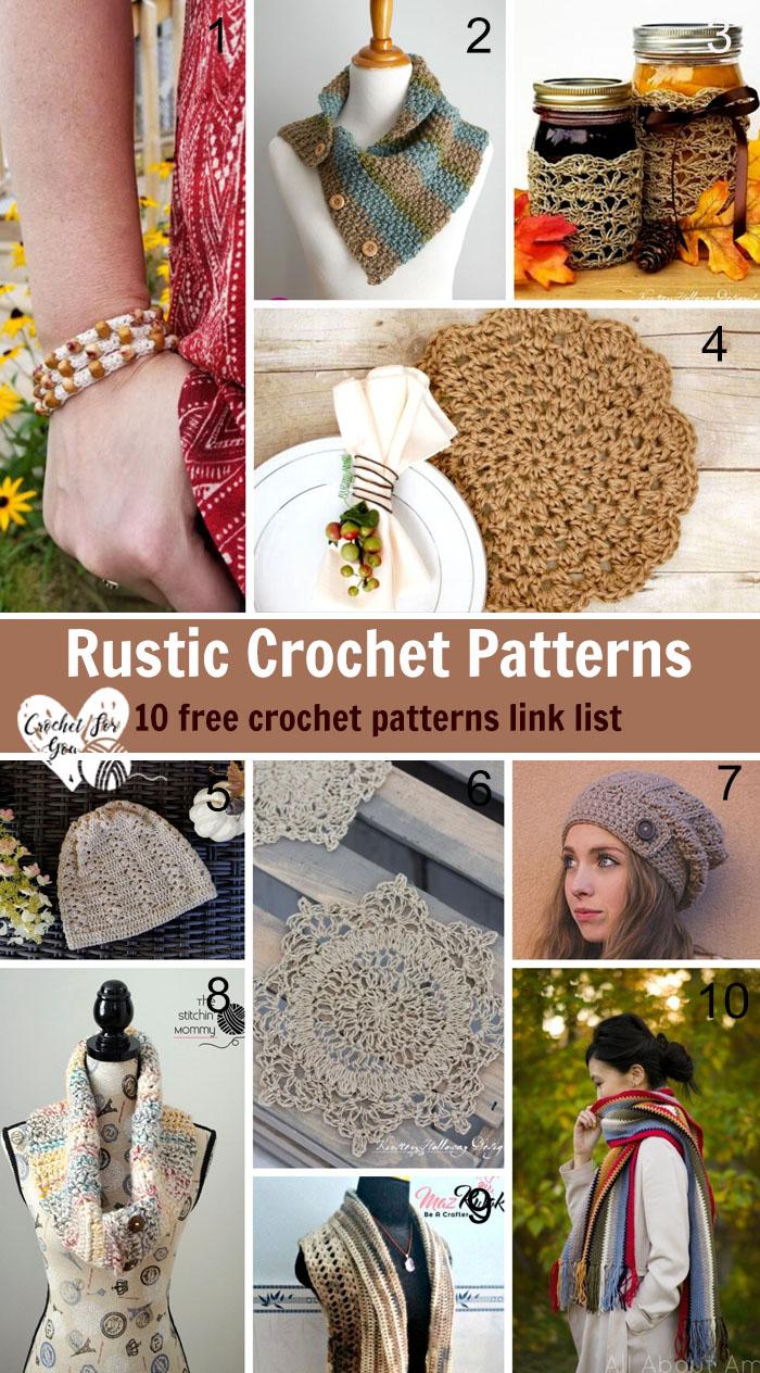 Rustic Crochet Patterns Link List