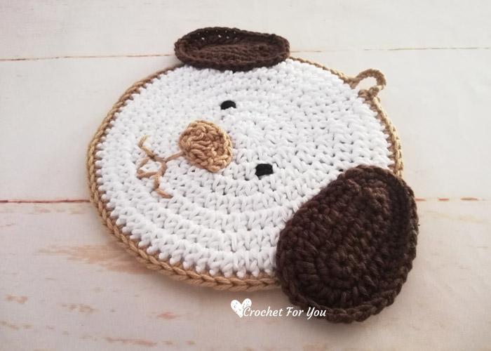 Crochet Puppy Dog Potholder Free Pattern