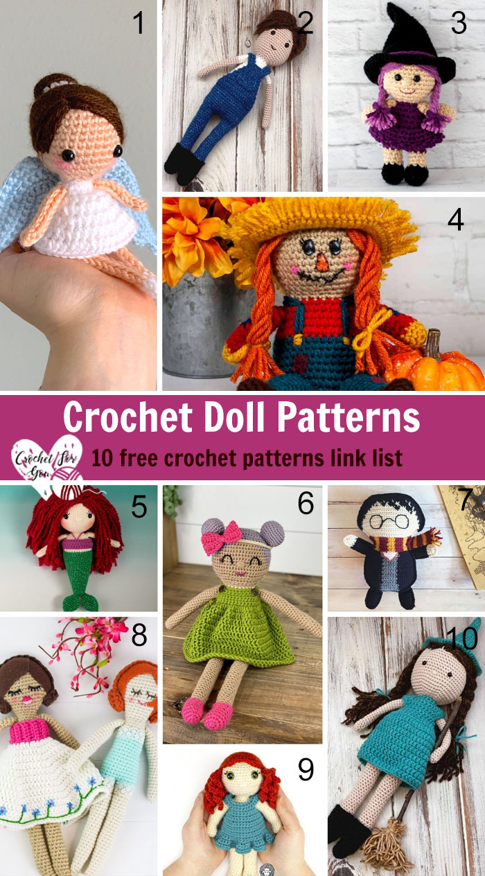 10 free pattern links for doll