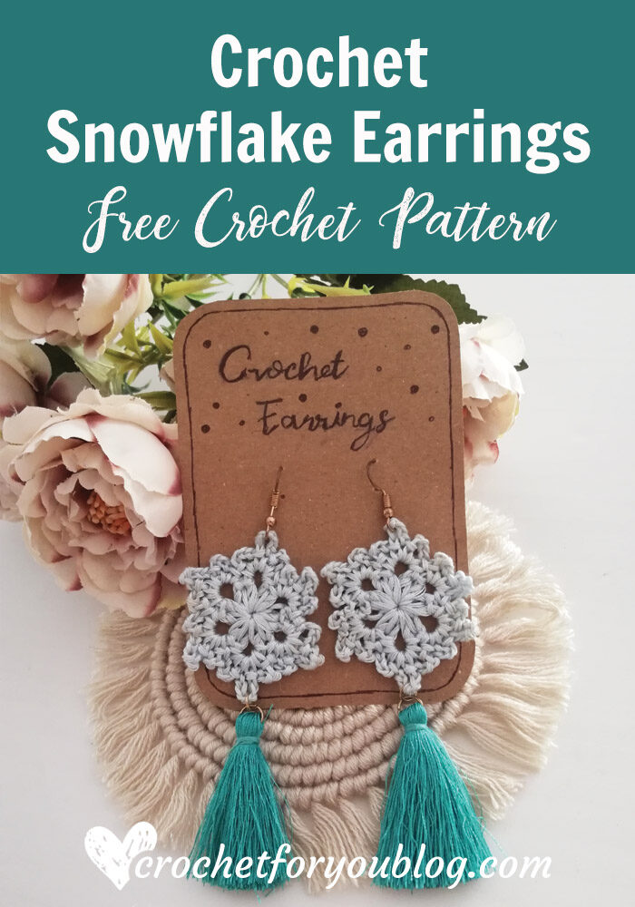 Crochet Snowflake Earrings