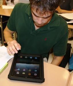 iPad and student