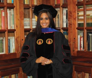 Dr. Natasha Schmittou was awarded her Ph.D. during the Fall 2012 Commencement ceremony.