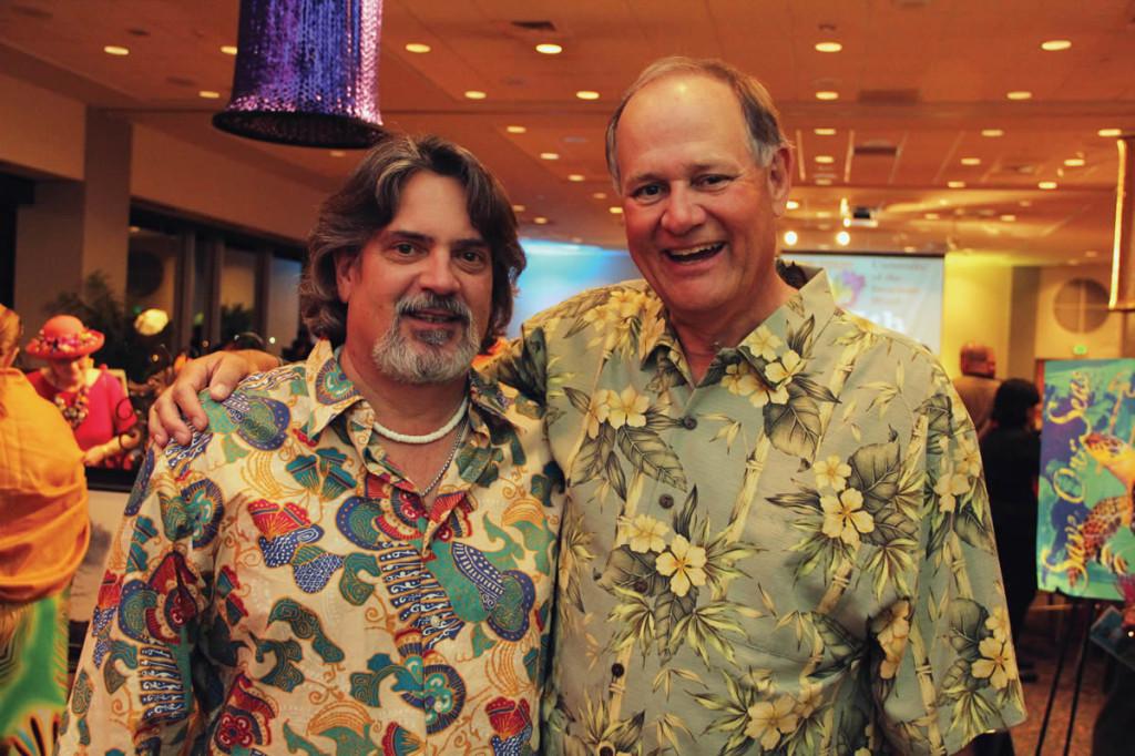 Pictured (L-R) Development Board Members Dan Pedrotti Jr. and Robert Crosby.