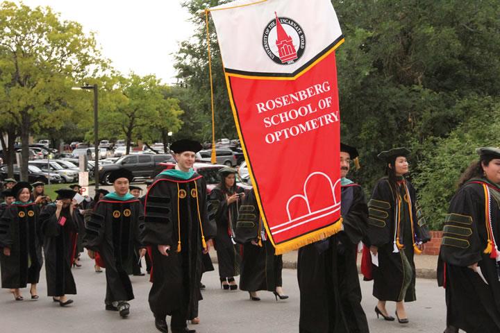 Rosenberg School of Optometry graduates its inaugural class
