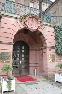 The entry to the European Study Center at Villa Krehl.
