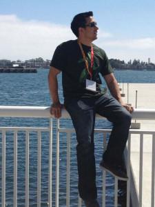 Alumnus Matt Tovar enjoys some sun in San Diego, Calif. Tovar resides in Los Angeles where he works as a 3-D animator.