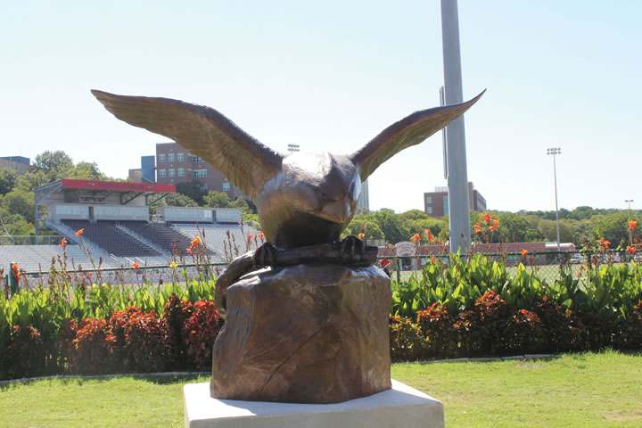 UIW installs Bronze Cardinal