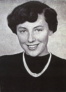 Spana pictured in the IWC yearbook as a freshman in 1955.