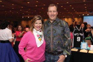 Karin and Scott Beckendorf pose for photo at the 2013 Swing-In Auction Party.