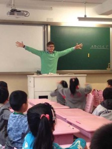 Danz teaches English to students in China.