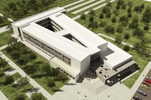 A rendering of UIW's Irapuato campus.