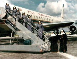 Sisters in 1964 on their way from San Antonio to establish a mission in Cimbote, Peru. Images courtesy of the Sisters of Charity of the Incarnate Word Archives