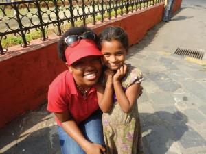 Tombo during her course-based study abroad trip to India in the Summer 2014.