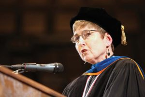 Said speaks during fall commencement in 2012.