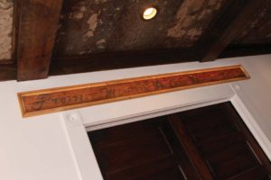 Lumber from the original structure of the home on Dawson is displayed as part of the design.