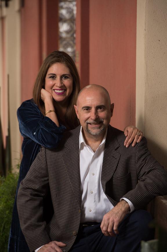 Diana Barrios-Trevino and Roland Trevino pictured at La Hacienda de los Barrios. Photo by Robin Jerstad.