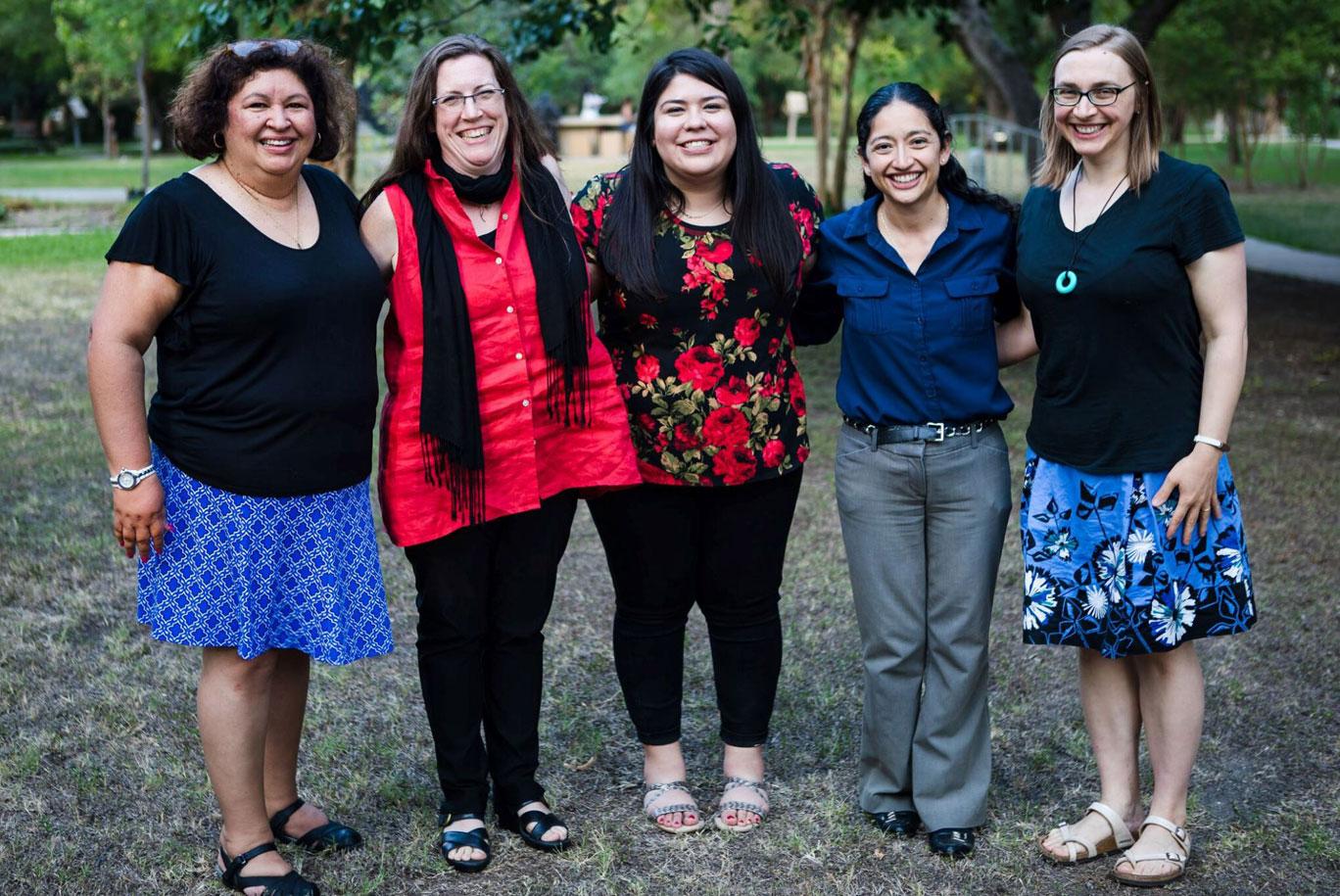 The curriculum team include Liz Ortiz, Dr. Ann David, Alejandra Herrera, Amanda Murillo and Rose Radkowski.