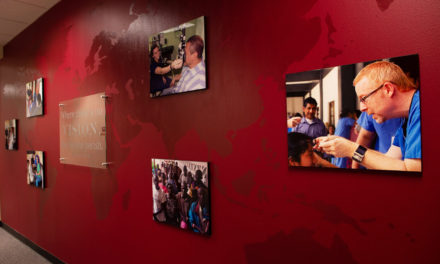 Rosenberg School of Optometry Unveils Mission Wall