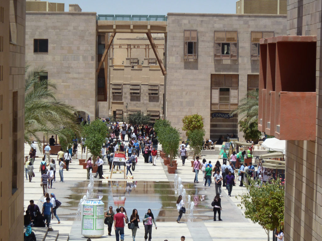 The American University in Cairo.