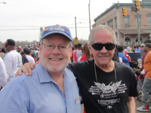 Barnes and Sosa at the 50th anniversary of Selma bridge crossing in Alabama.