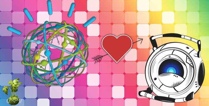 IBM'S Watson and Wheatley From Portal Gay Marry