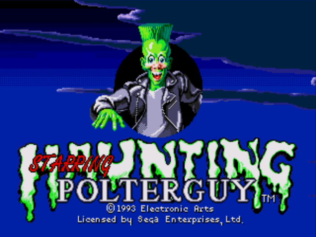 Polterguy Title Screen